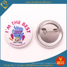 Kids Brain′s Encourage Tin Button Badge for Children in Cheap Price