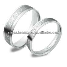 Nouveaux produits 2014 Couples anneau gravé symbole personnage mode Bijoux