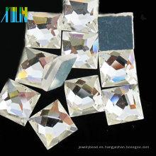 Cuentas de vidrio espalda plana sin cristales de revisión espejos de cristal Cuentas de vidrio espalda plana sin cristales de fijación espejo pedrería