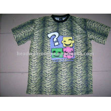 2011 new style leopard t shirts wiht silk screen printing