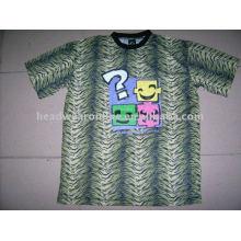 2011 novo estilo leopardo t shirts wiht serigrafia