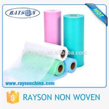 Materias primas no tejidas de la tela del polipropileno SS Spunbond para la fabricación del pañal