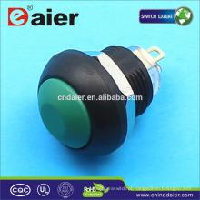 Daier plástico 12mm botão interruptor interruptor de botão de pressão à prova d 'água