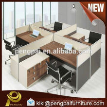 Factory customized modern 4 person panel/melamine office workstation