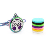 Rainbow color diffusing locket pendant