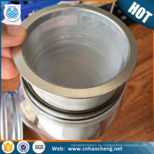 Filtro de café del brebaje frío del acero inoxidable de la categoría alimenticia del proveedor de oro para el tarro de albañil de cristal de 2 cuartos de galón