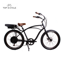 2017 CE certificated top sale man beach cruiser electric bike