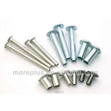 Rivets tubulaires creux en Taiwan 304 Rivets en acier inoxydable 316 Rivets tubulaires