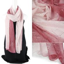 Écharpe en soie pure en écharpe à deux tons avec des sequins
