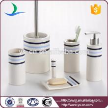 Hogar cotidiano 6 piezas de baño de cerámica de tocador conjunto