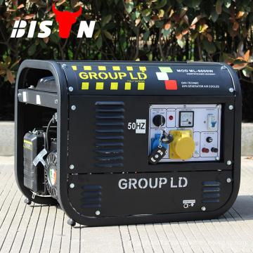 BISON CHINA Swiss Kraft 6.5kw Fuel Save 380V Gerador de gasolina trifásico, gerador de gasolina kraft suíço manual