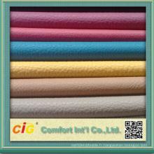 Cuir en PVC pour l'ameublement Couleurs variées pour le canapé moderne
