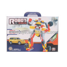 Yellow&red&silver educational building blocks robot