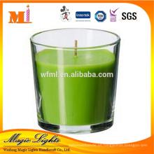 Fabrique el nuevo tarro de cristal profesional personalizado popular de la vela del producto