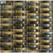 Wellenform Kristallglasmischung Metallmosaik