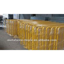 Предохранительный барьер для защиты толпы с защитным покрытием из ПВХ (производство)