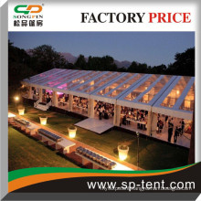 20x50m modular Frame Tents in Transparent Soft PVC roof and walls