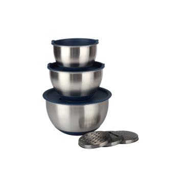 Conjunto de tigela de mistura de acessórios de cozinha em aço inoxidável
