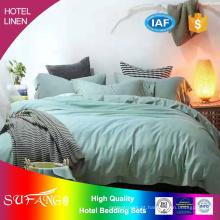 Cama do hotel / roupa de cama do hotel 1800TC lençol de algodão sem rugas / roupa de cama / conjunto de cama