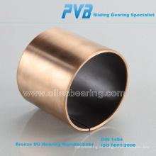 Rodamiento de PTFE con respaldo de bronce de polímero de metal DP4-B, base en casquillo GGB estándar