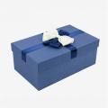 Grands coffrets cadeaux bleu marine avec couvercles