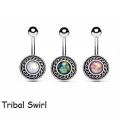 Модный Стиль племенной узор кельтский крест пупка пупка кольцо пупка кольцо