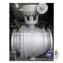 Pn16 2PC Trunnion Mounted Flange Wcb Ball Valve
