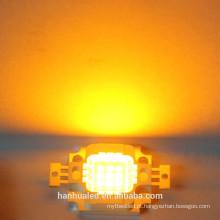 10W amarelo 900mA 7-9VLED integrado de alta potência LED grânulos