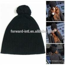 Sombreros de invierno de punto de moda con Pom-Poms