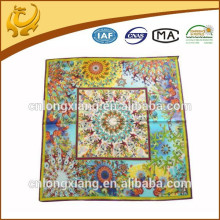 Fashionable New Digital Printed Design ,Wholesale 100% Silk Square Print Silk Scarf