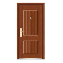 Puerta de madera de acero con diseño agradable
