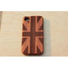 Cubierta de madera estilo inglés con grabado de su logotipo con el precio de fábrica del fabricante