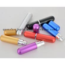 Bouteille de parfum colorée de jet en métal de voyage de vente chaude d'OEM