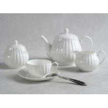 El sistema blanco del té del café de China de hueso de la loza de barro del grano de la porcelana del cuerpo de 12pcs 15pcs 17pcs 24pcs fijó