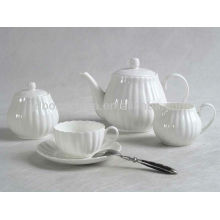 12pcs 15pcs 17pcs 24pcs white body porcelain stoneware earthenware bone china coffee tea pot set