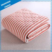 Manta de edredones de rayas de algodón