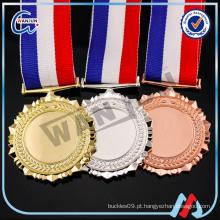 Promoção barato em branco medalha simples