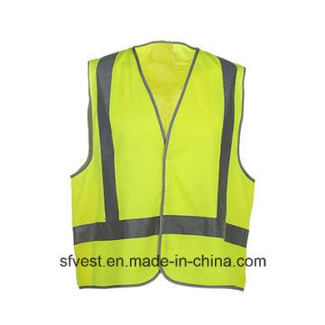 AS / NZS Colete de segurança reflexivo para vestuário de trabalho de alta visibilidade