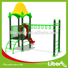 Good Quality Plastic House with Monkey Bar backyard playgrounds