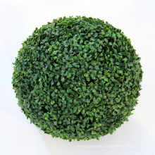 Home garden decor faux green boxwood spiral topiary ball
