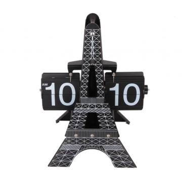 Horloge Flip Mode Tour Eiffel sur Table