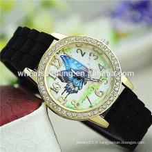 2015 nouveau design 7 couleurs stock candy color jelly fancy wrist watch
