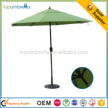 high quality large coffee shop aluminum frame patio umbrella