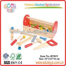 Hot Sale Niños Role Play Toy Caja de herramientas de madera