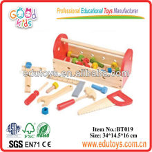 Hot Sale Kids Role Play Toy Wooden Tool Box