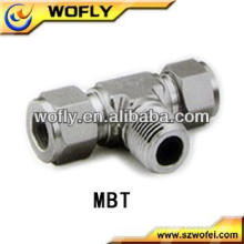 China Stainless Steel Plumbing Male Branch Tee Tube/Pipe Hydraulic Fittings