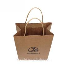 Nuevos productos bolso de papel kraft marrón con estampado de logo