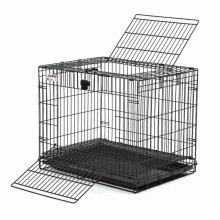 PVC recubierto de jaula del animal doméstico con chasis de plástico (TS-E103)