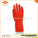 Red Color Rubber Kitchen cleaning glove , Red Latex household glove