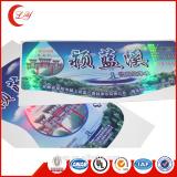 Custom CMYK printing vinyl pvc packaging label